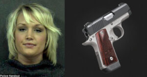 Classy Woman Carries Loaded Handgun BTL (Between The Legs) Inside Her Own Custom Made Holster