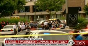 Suspect Opens Fire At Maryland Newspaper Building, Killing 5