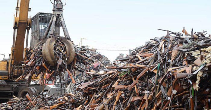 Pile of firearms