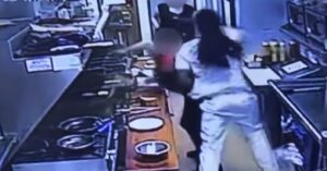 *WATCH* Customer Goes Behind Counter And Brutally Punches Female Employee, Then Backup Arrives Quickly In The Form Of An Armed Co-Worker