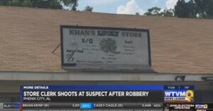 Armed Clerk Fires At Armed Robbery Suspect After Seizing Opportunity To Defend Himself
