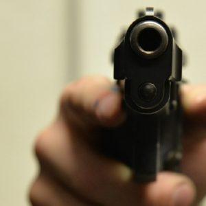 Handgun pointed