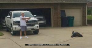 TEAMWORK: Burglar Held At Gunpoint By Homeowner As Passerby Calls Police