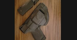 #DIGTHERIG – Sterling and his Smith & Wesson M&P 45 Shield in a Tagua Leather Holster