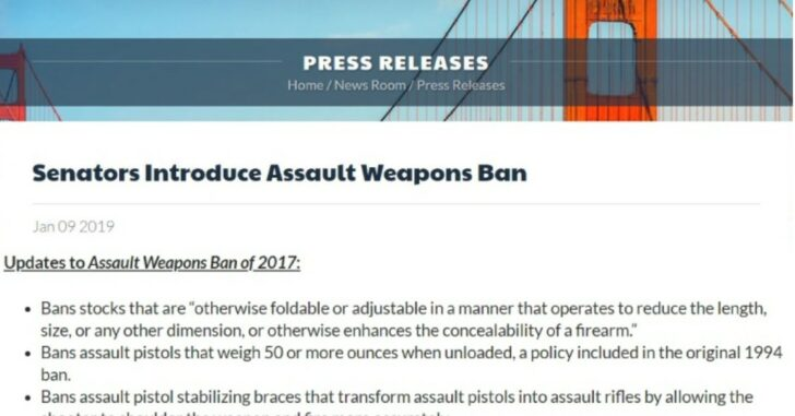 New Feinstein Assault Weapons Ban Bill Is The Worst Yet