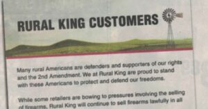 Rural King Stands With Us And The 2nd Amendment