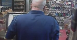Clerk Not Having Armed Robbery Attempt, Comes Around Counter And Destroys Criminal