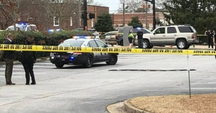 Armed Citizen Holds Suspect At Gunpoint, Who Had Just Shot And Killed A Woman Outside Bank