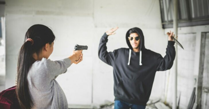 Profiles in Courage: Female Being Held at Gunpoint – and Outnumbered – Uses Her Firearm to Thwart Group of Men Intent on Robbing Her