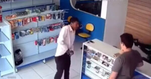 [WATCH] The Last Thing This Guy Does Is Draw His Gun, But The Armed Citizen Behind The Counter Is Quicker