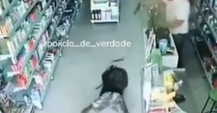 Robber With Knife Nearly Dies Of Shock After Shop Owner Draws Gun