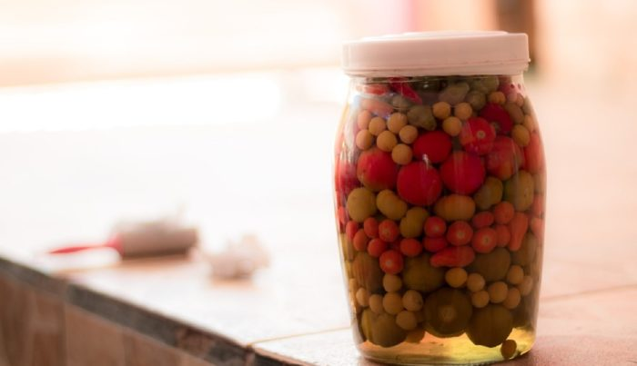 Jar of peppers