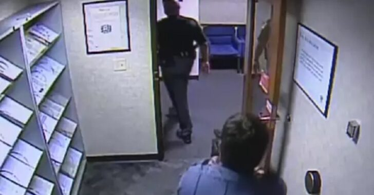 [VIDEO] Uniformed Cop Nearly Gunned Down by Security Guard in Gun-Free Zone