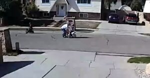 Man Slaps Two Children Riding Bikes In The Street, Their Father Runs Over, Man Pulls Gun And Fires