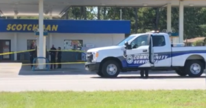 Gas Station Robbery Results In Robber and Victim Both Shot Dead By Same Gun