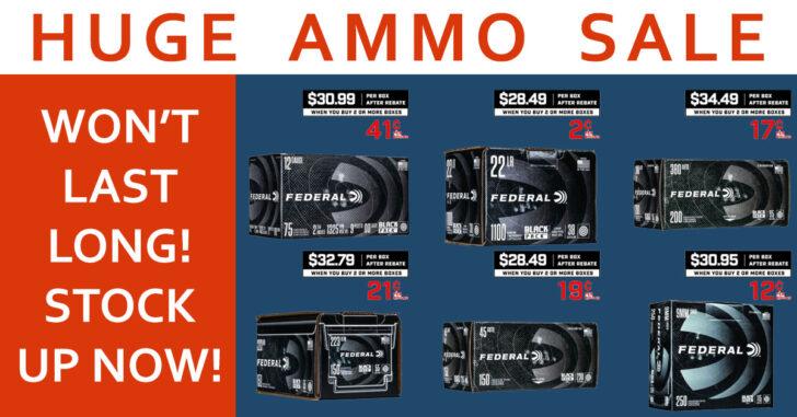 INSANE Black Friday Deals On Federal Ammunition: .223, 9mm, 22LR, .45ACP, .380, 12 Gauge