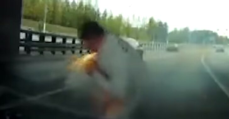 If You've Ever Wondered What It Looks Like To Get Shot In The Neck With A Flare Gun, Wonder No More