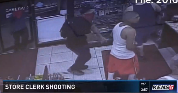 Two Gas Station Customers Shoot Kill Masked Armed Robber
