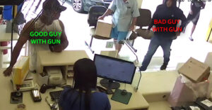 *WARNING: GRAPHIC* Robber Receives Head Shot After Trying To Hold Up Post Office, Gov't Official Shares Video And Praises Defender