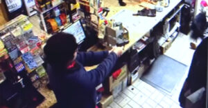 [VIDEO] Robber With Knife Stopped In His Tracks By Clerk With Gun In Near-Perfect Self-Defense Shooting