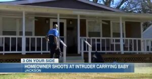 Man Shoots At Intruder That Burst Through Door, Intruder Then Uses Baby As Human Shield