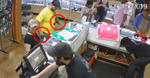 Irresponsible Gun Owner Has Negligent Discharge In Gun Store After Being Told To Stop What He's Doing