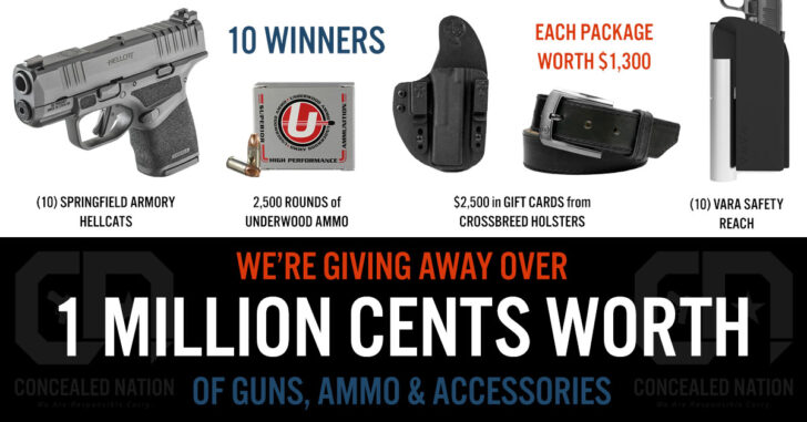 1 MILLION GIVEAWAY: 10 Winners, 10 Awesome Concealed Carry Packages