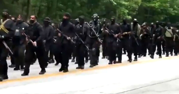 "Armed Militia Called NFAC (Not F*cking Around Coalition), Marches On KKK Rally Location. ""We In Your House. Where You At?"""