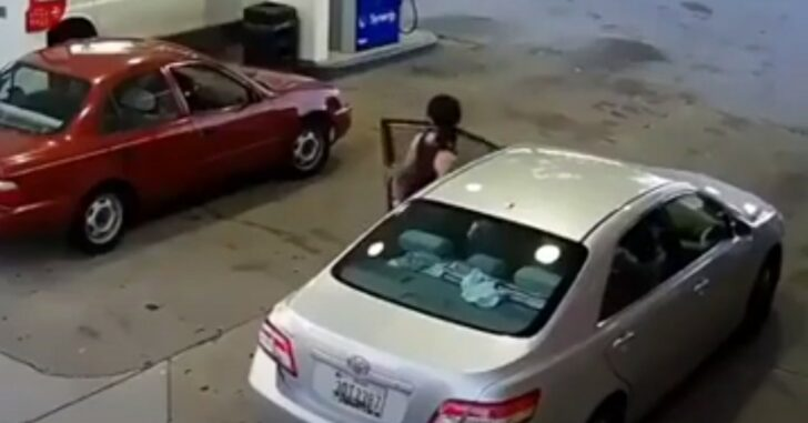[VIDEO] Woman Shoots Man At Gas Station After He Opens Her Car Door And Assaults Her