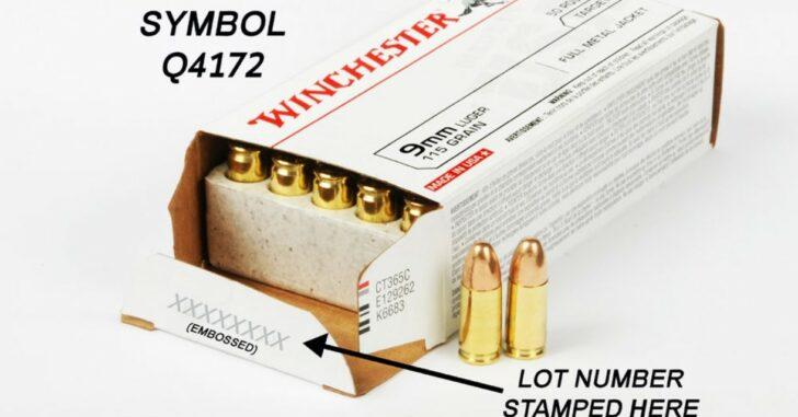 Ammo Recall: WINCHESTER® 9mm Luger 115 grain