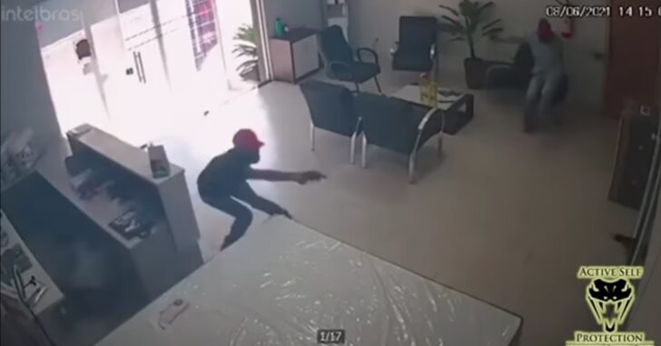 Armed Robbers Don't Make It Against Hiding Armed Store Owner