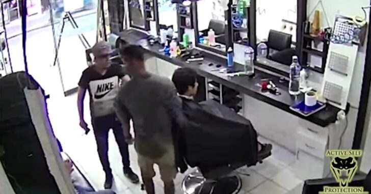Loosely-Held Gun By Robber Offers Opportunity To Defend And Dominate