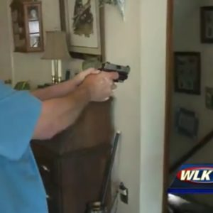 Burglar Shoots Family Dog, Is Then Held At Gunpoint By Armed Homeowner