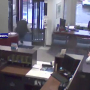 [WARNING: GRAPHIC VIDEO] Armed Bank Security Wastes No Time in Stopping Armed Robber, Even Clearing A FTF