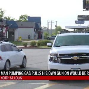 CCW IN ACTION: Man Pumping Gas Has Surprise For Would-be Robber, And It's Not A Wallet Filled With Cash